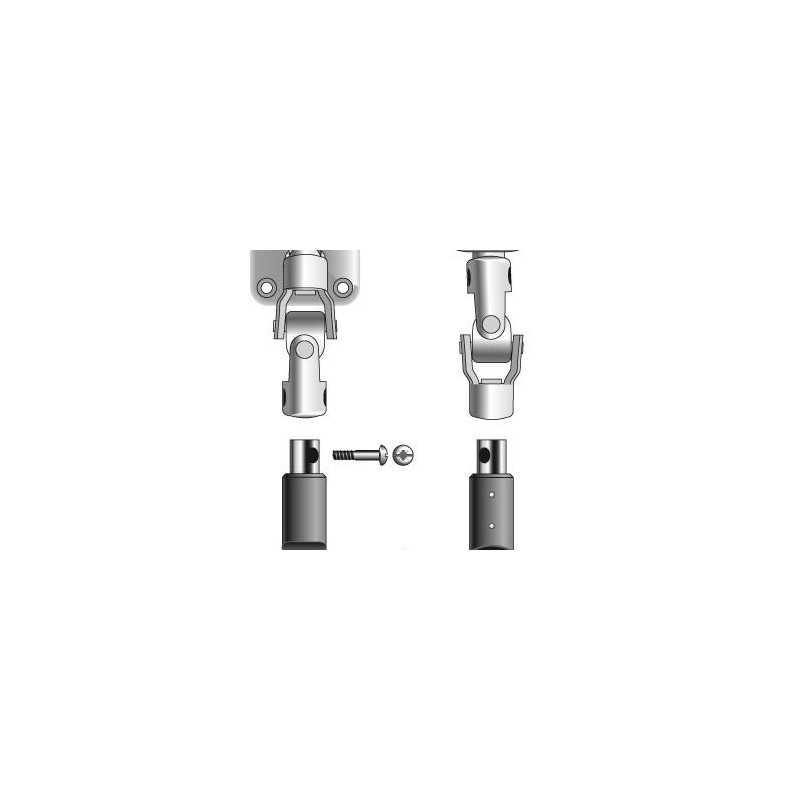 Sortie de caisson verticale Somfy avec anneau Longueur de 315mm. Hexagonale 7 mm. Avec Cardan. platine large tradi