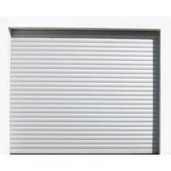 Porte de garage enroulable lames alu 55 (inter a clé)