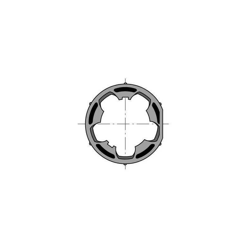 Roue LT50 tube Diam 50X1,5 clippage dur