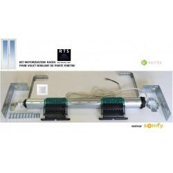 Axe motorisé Radio Somfy RTS pour volet roulant de Porte-fenêtre