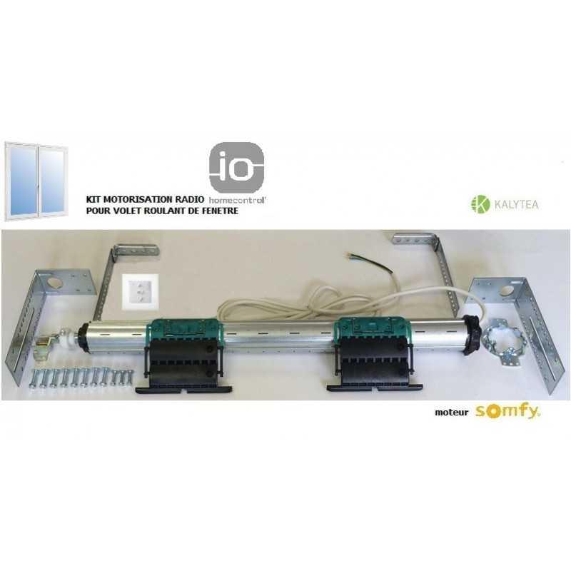 Axe motorisé Radio Somfy IO pour volet roulant de Fenêtre