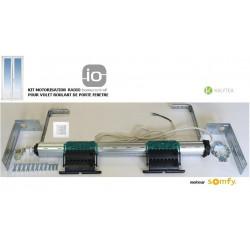 Axe motorisé Radio Somfy IO pour volet roulant de Porte-fenêtre