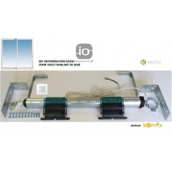 Axe motorisé Radio Somfy IO pour volet roulant grande Baie