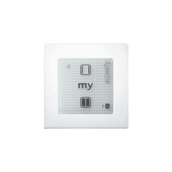 Commande murale radio SOMFY Smoove Sensitive 1 O/F RTS blanc