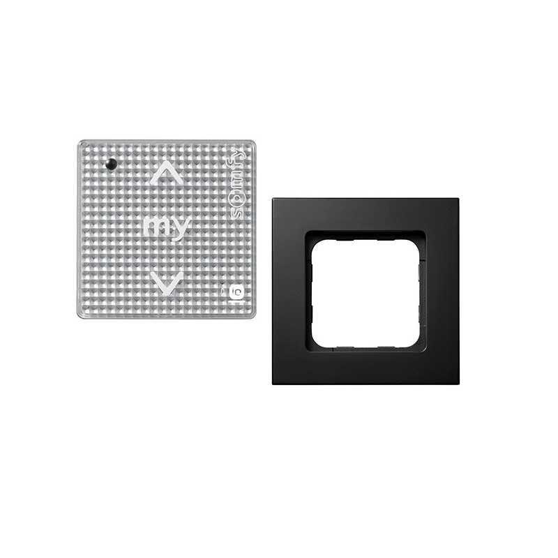 Smoove sensitive IO cadre Noir mat + module Acier