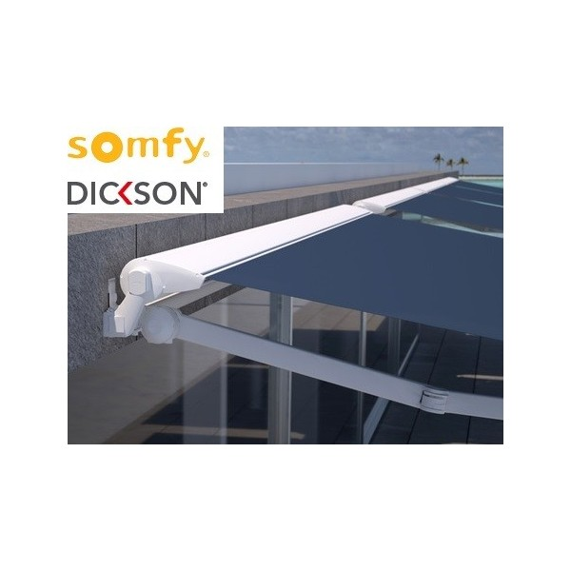 Store semi-coffre 4780 x 3500 électrique SOMFY RADIO IO