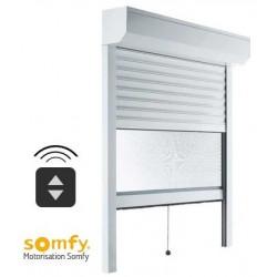 Volet roulant moustiquaire électrique Radio Somfy - BLANC
