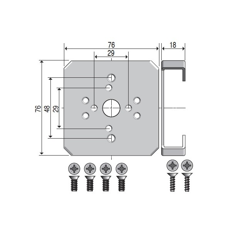 Support moteur LS40 modulo