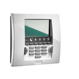 Clavier LCD alarme Protexial IO/RTS SOMFY avec badge blanc