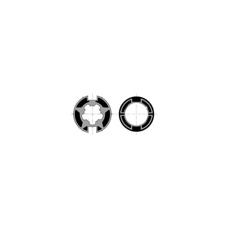 Jeu Roue + Couronne Moteur Diam.50 Pour Tube WELSER Diam.70x1,5 / Goutte Plate (à l'unité