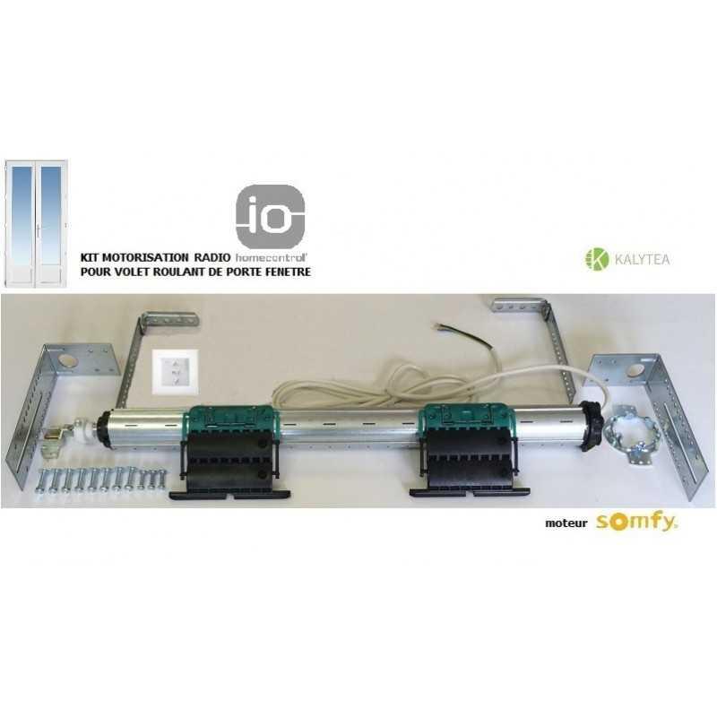 Axe motorisé Radio Somfy RS100 io pour volet roulant de Porte-fenêtre