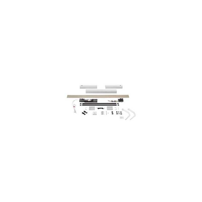 Kit motorisation YSLO FLEX IO 2 Vantaux BLANC (carter et bras)