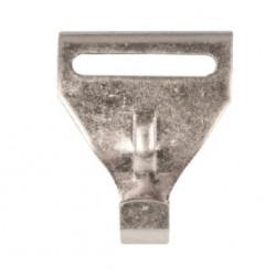 Crochet d'attelage rigide en acier galvanisé