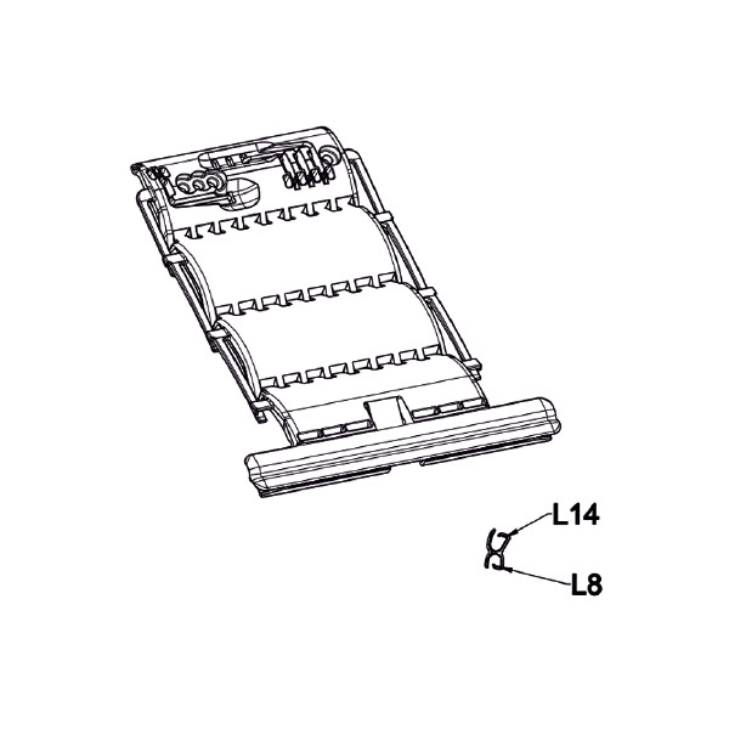 Clicksur 2 maillons lame de 8/9mm + fil pour coffre 180/205 Zurfluh Feller.