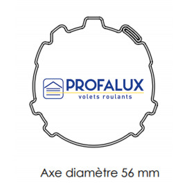 Axe Ø56 mm PROFALUX / EVENO L1500