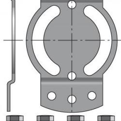Support LT50 CSI entraxe de 48mm (Volet roulant avec secours)